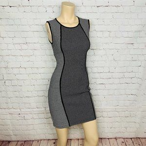 BAILEY 44 Dress M Black & White Polka Dot Sheath